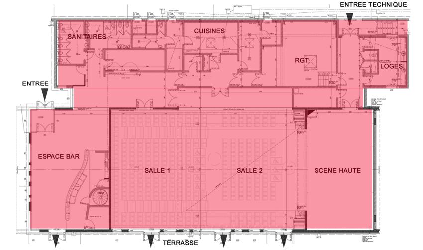 Configurations Salle de spectacle 4 Vents - Rouziers (37)