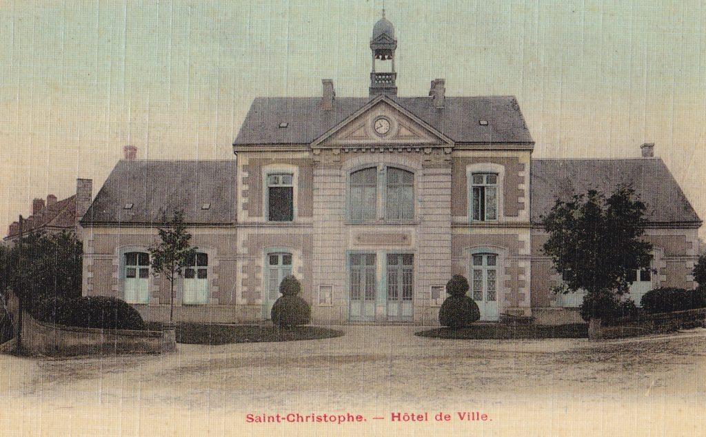 L'Hôtel de ville au tout début du XXe siècle